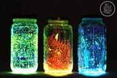 Luminous mason jar