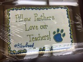 A Pillow parent/chef made an awesome cake for our staff! Complete w/ a hashtag!
