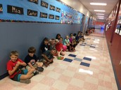 Waiting for the kinder ABC parade!