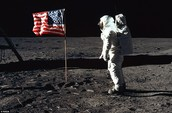 Neil Armstrong Lands on Moon