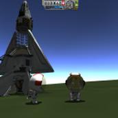 Landed spaceplane back to kerban