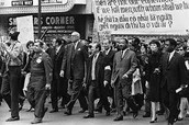 MLK protesting with his people