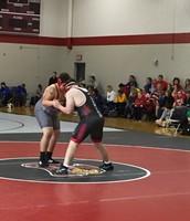 Lucas Swoboda defeats a Van Horn wrestler in helping his team capture the Benton Dual Tournament Championship