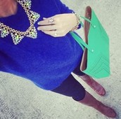 Palmia Statement & Fillmore Tote - Kelly Green!