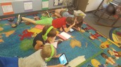 Students researching their chosen topic during writing this past week.