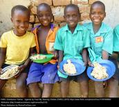Children receiving the meals