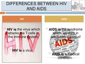 How is HIV/AIDS is different from each other?