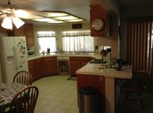 Kitchen looks and smells clean. Appliances come with manufacture warranty.