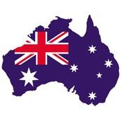 Bandera y forma Australia