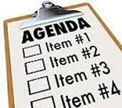 January 4, 2016 Agenda
