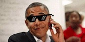 oboma on the phone