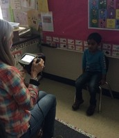 The Lions Club helps with vision screening in PK3