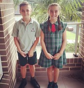 Me and my brother Alex on our first day of school this year.