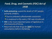 Food , Drug and Cosmetic Act