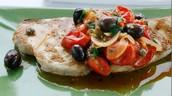 swordfish steak with tomatoes
