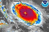 Size of hurricane