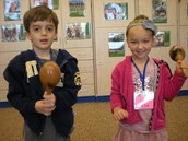 Kindergarteners shakin' maracas!