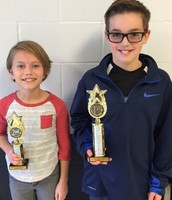 DRE Geography Bee winner and runner up!