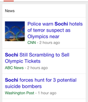"Cell Phone Search on ""Sochi"" (News Sector)"