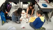 Cooperative work with their classmates