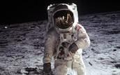 Buzz Aldrin on Earth's Moon