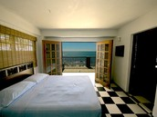 one of the bedrooms in our beach front house
