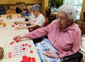 Elderly patients play BINGO