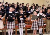 School Choir at Sunday Mass