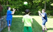 Toss a ball with a study partner while you discuss or quiz each other on a topic you are learning about.