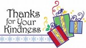 Thank you for all of the donations and generous gifts for our students through the Giving Tree