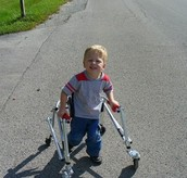 CP child with a Walker