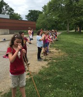 Using an Atlatl, a device to help throw an arrow, is not as easy as it looks.