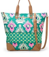 SOLD!!!!The Brand  New  Covetable Green Ikat getaway bag, was $144, now $80!!