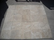 "TRAVERTINO DURANGO 12X12X3/8"" CM PULIDO MATE"