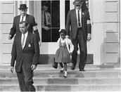 Plaintiff Ruby Bridges leaving school