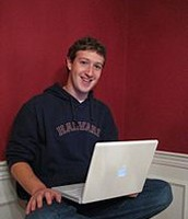 Mark Zuckerburg in his dorm room