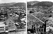 Before and after the Bombing of Hiroshima