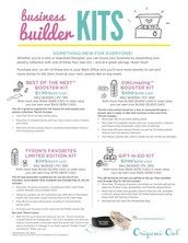 Business Builder Kits are available!
