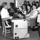 old overhead projector