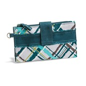 Retro Metro Wallet - Sea Plaid