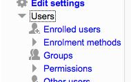 Go to enrollment methods and select self enrollment