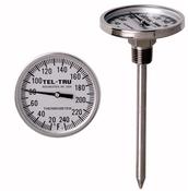Bimetallic stemmed thermometers