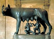 Capitoline Wolf sculpture of Romulus and Remus