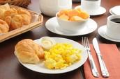 Jch das frühstück essen un 7:20 uhr