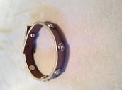 Clover single wrap leather bracelet