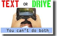 Don't text and drive!!!