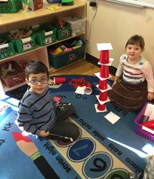 Dr. Seuss week- stacking cups like the Cat in the Hat