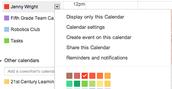 Share a Calendar