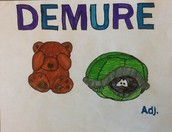 Student Vocabulary Illustrations: Demure