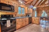 We will prepare and eat our meals together in this beautiful kitchen.